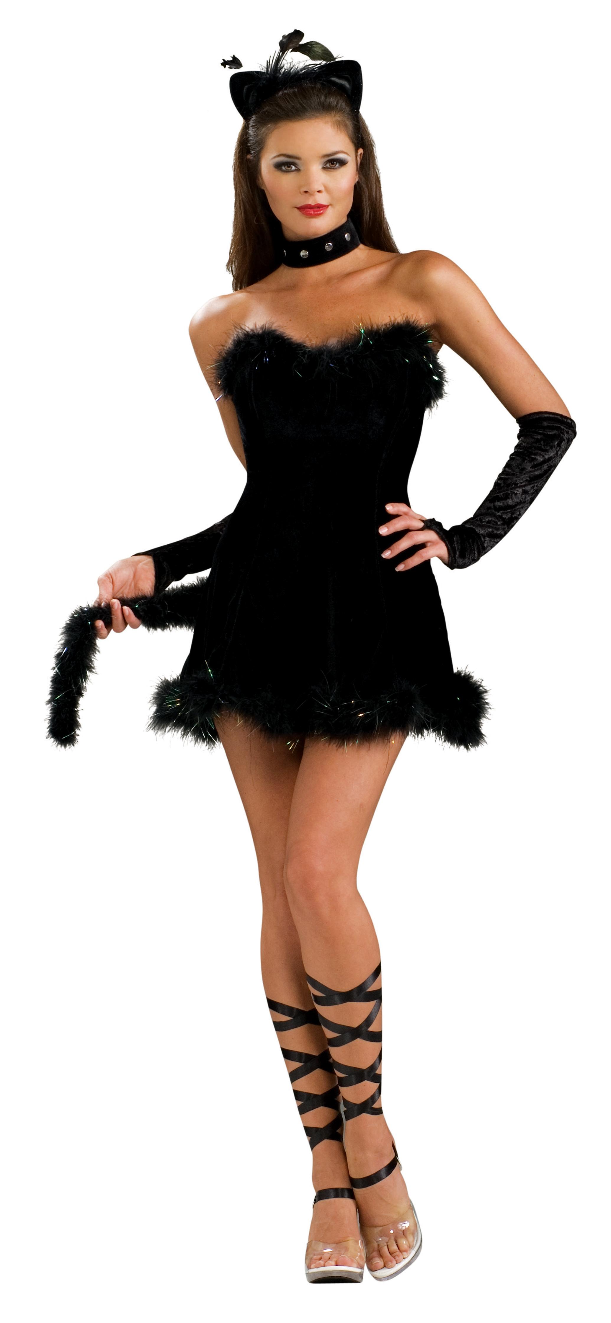 5tlg katzenkost m cat kissable kitty gogo dance damen schwarz 36 38 ebay. Black Bedroom Furniture Sets. Home Design Ideas