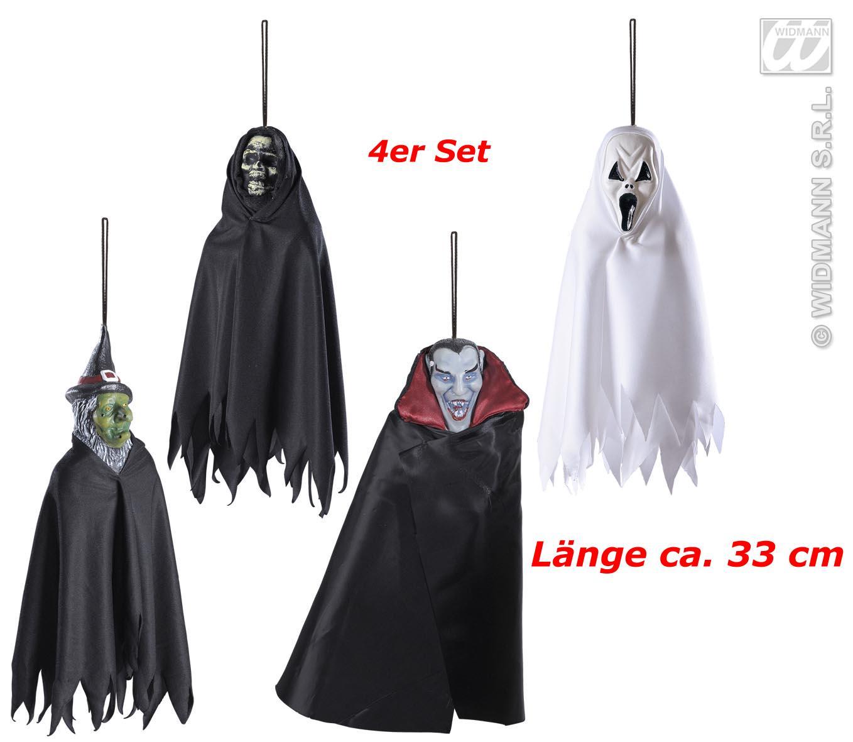 4 x h nge kreaturen deko raumdeko hexe dracula tod halloween ebay. Black Bedroom Furniture Sets. Home Design Ideas