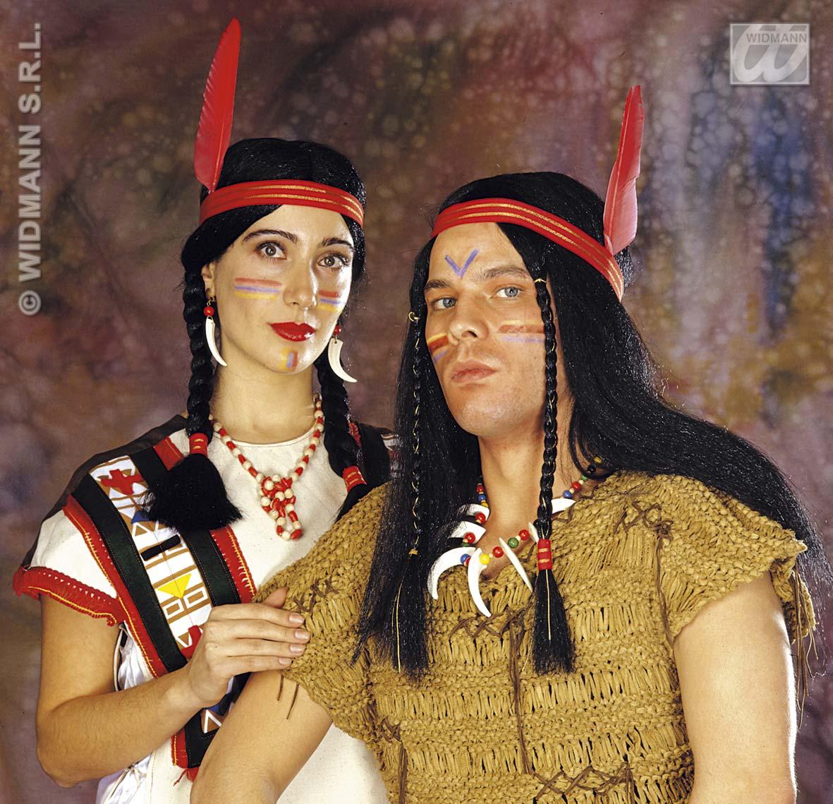 indianerin indianer per cke lang mit feder mann u frau 6003 ebay. Black Bedroom Furniture Sets. Home Design Ideas