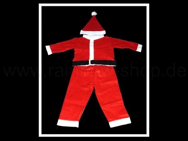 4 tlg. Weihnachts Kostüm Anzug + Mütze, Jungen 3-5 u. 6-8 Jahre