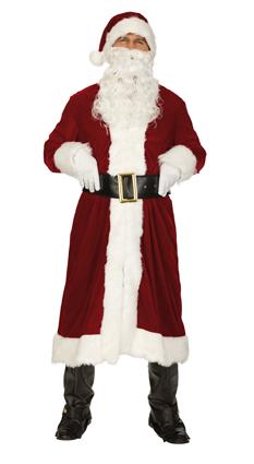 4 tlg Weihnachtsmann Kostüm, MANTEL, Gürtel edle Ausführung L, XXL