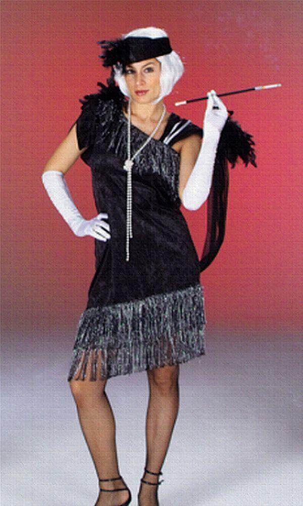 20er Jahre CHARLESTON Kostüm, Damen inkl. Zigarettenspitze