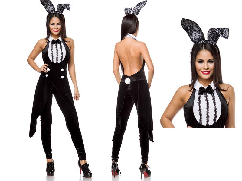 Sexy Bunny-Kostüm Damen 2tlg.Komplettset Karneval Junggesellenabschied