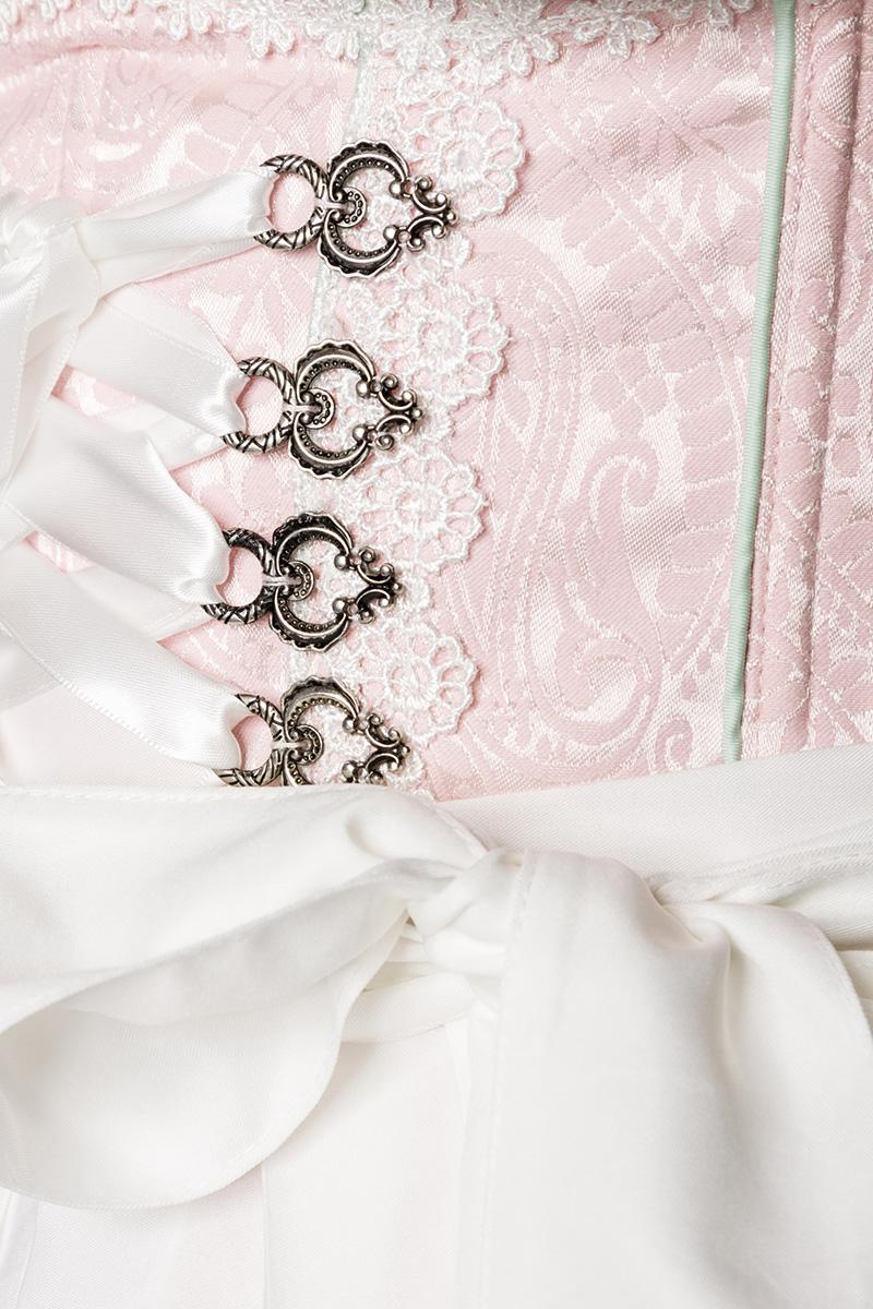 Dirndl Kleid Kostüm ROSA Pastell Damen Oktoberfest Trachtenkleid 34-46