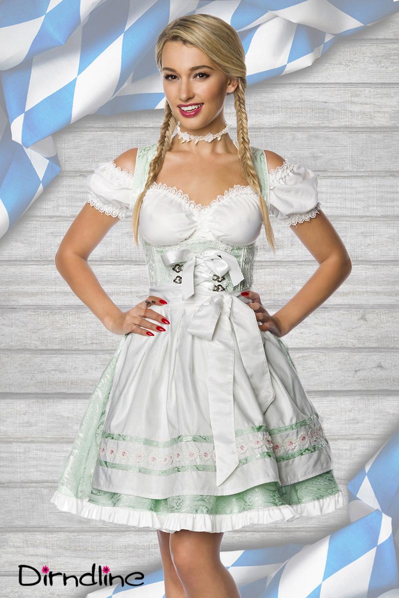 Dirndl Kostüm mintgrün Pastell Damen Oktoberfest Trachtenkleid 34-46