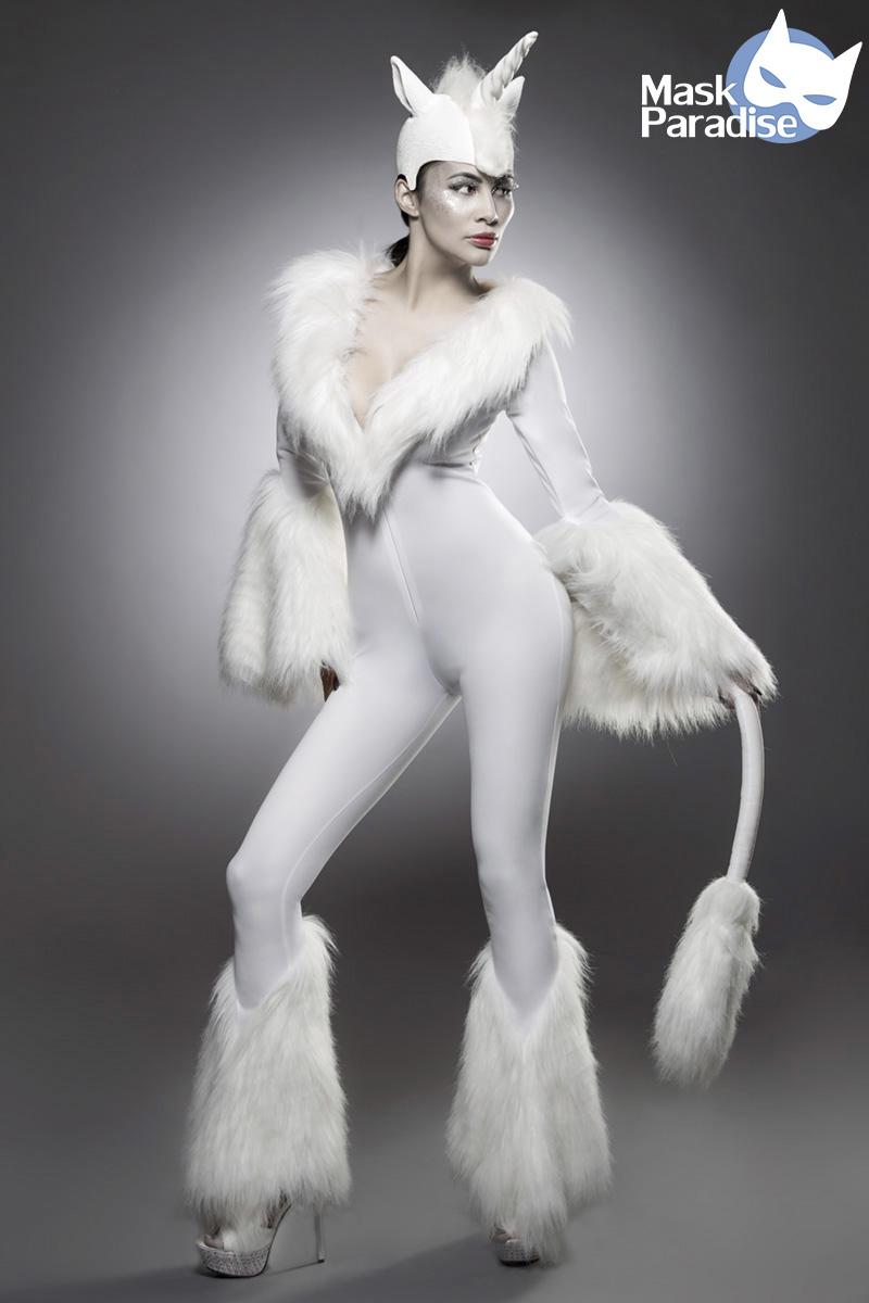 EINHORN Unicorn Kostüm Overall weiss Edel feminin Damen Karneval