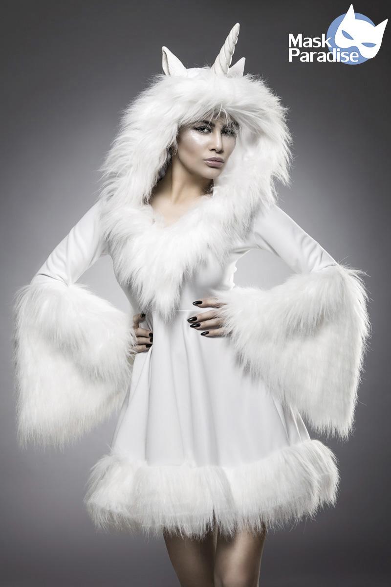 EINHORN Kostüm weiss Edel feminin Damen Karneval Theater XS-2XL
