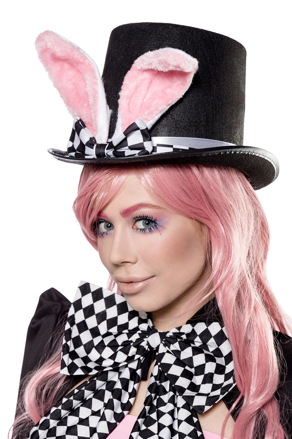 5 tlg. Bunny Hasen Kostüm Damen Komplett Kostüm Karneval S-SXL