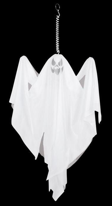 GEIST, weiß Hänge-Deko ohne Sound ca. 50 cm Halloween