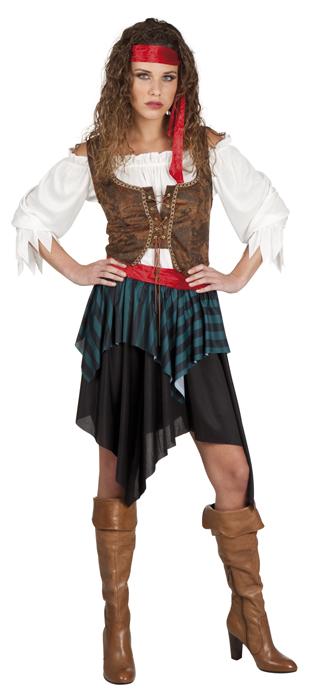 5 tlg piratenkost m damen piratin gr 36 38 komplett. Black Bedroom Furniture Sets. Home Design Ideas