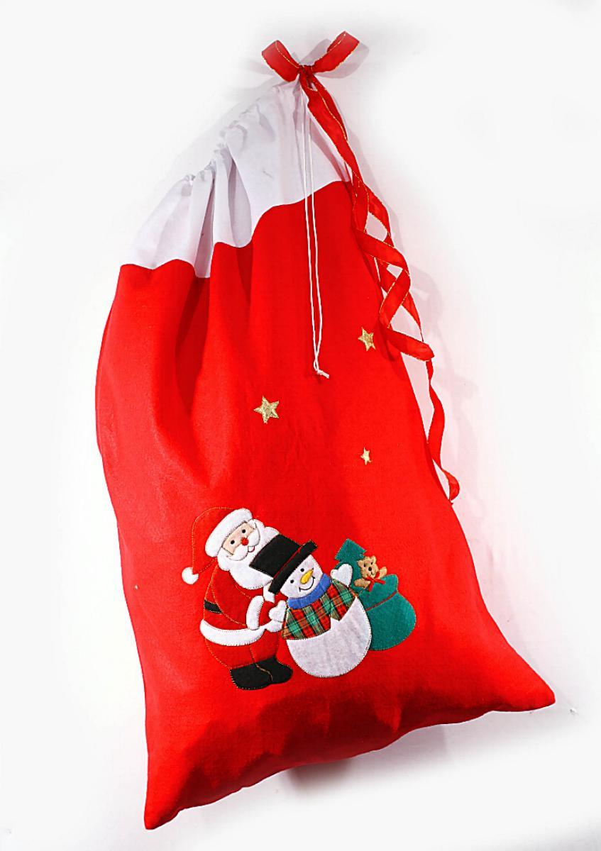 Weihnachtssack,Sack Xmas,EXTRA GROß 90x60,Motive aufgenäht