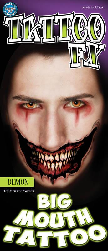 TATTOO FX face Gesicht Dämon Theaterqualität Effekte Schminke