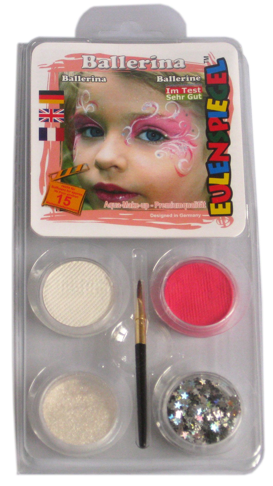 Aqua Schminke Motiv Set, Make up,Ballerina Eulenspiegel Karneval