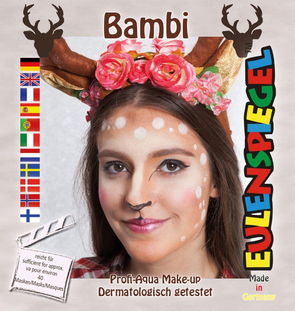 Reh Rehkitz Make Up Aqua Schminke Set Eulenspiegel Karneval Damen Kinder