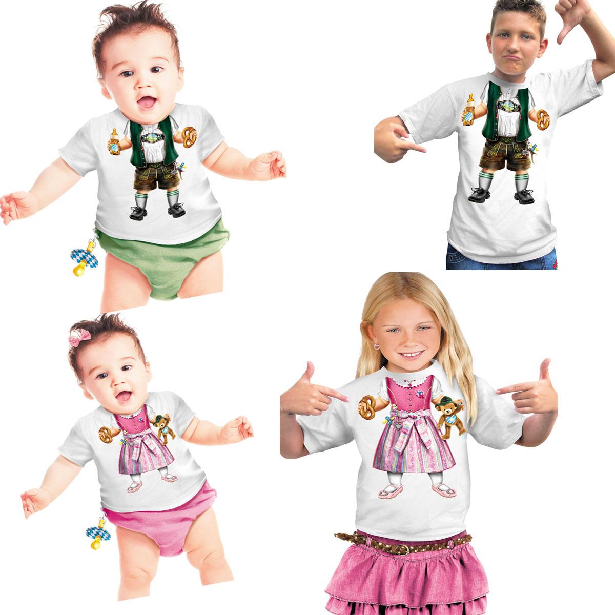 FUN T-Shirt Oktoberfest BABY Bayer Lederhose Dirndl KINDER + BABYS