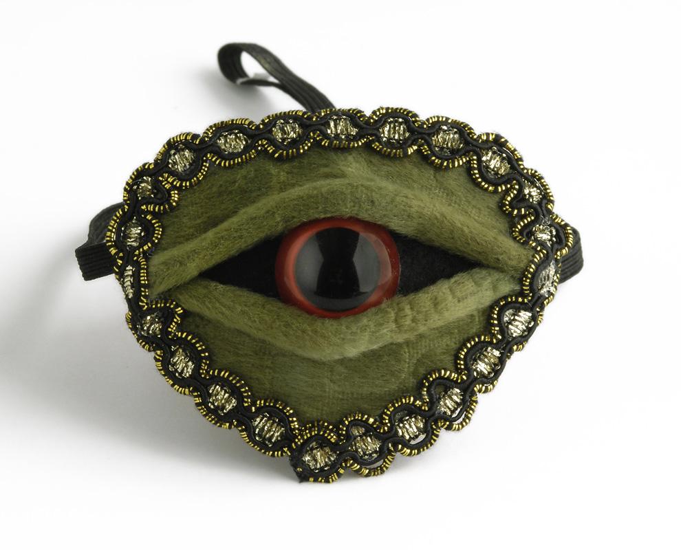 Augenklappe ECHSENAUGE grün Damen Herren, Kinder Halloween