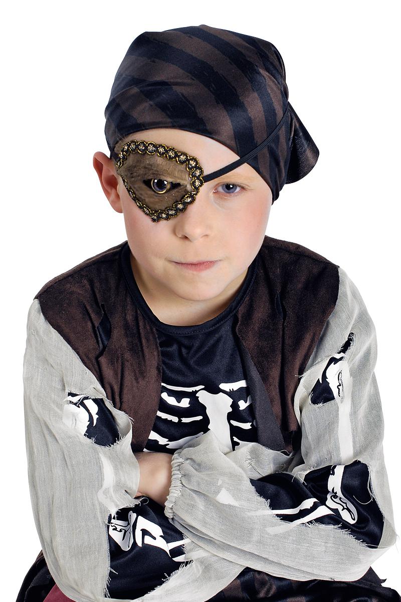 Augenklappe ECHSENAUGE braun Damen Herren, Kinder Halloween