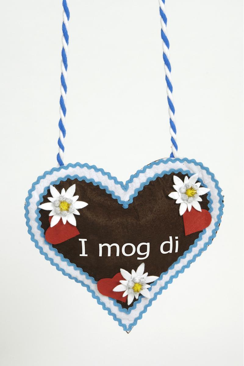 Oktoberfest Herz Hand Tasche, Edelweiß Dirndl  i MOG DI , Wiesn
