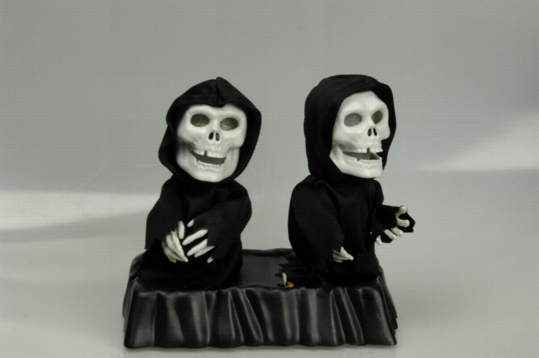 10 x Skelett  Wiederverkäufer 2 Figuren, Animiert tanzend  leuchtend Halloween