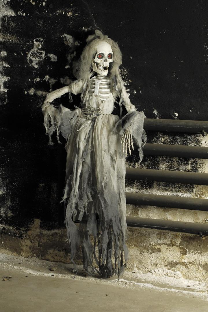 Gruselige Zombie Braut Skelett Figur 165cm Halloween Horror Lebensgroß