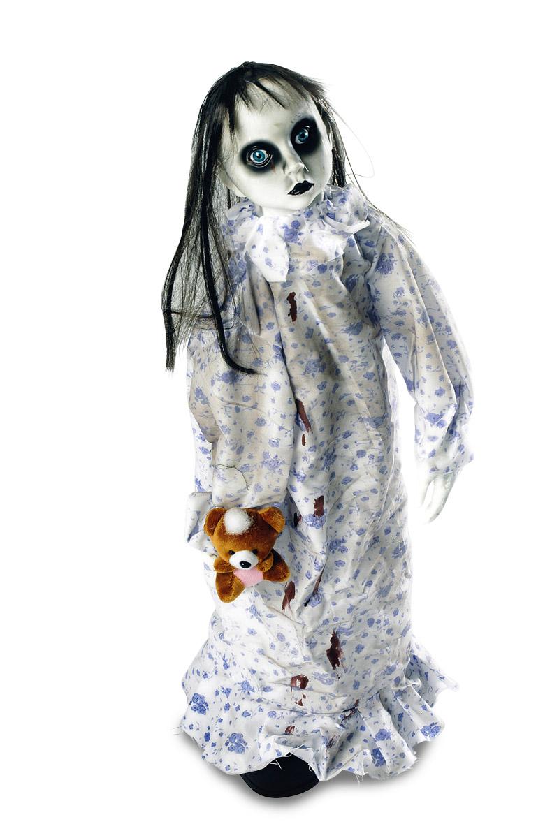 Deko Figur animiert Schlafwandlerin Horror, Standfigur 75 cm Halloween