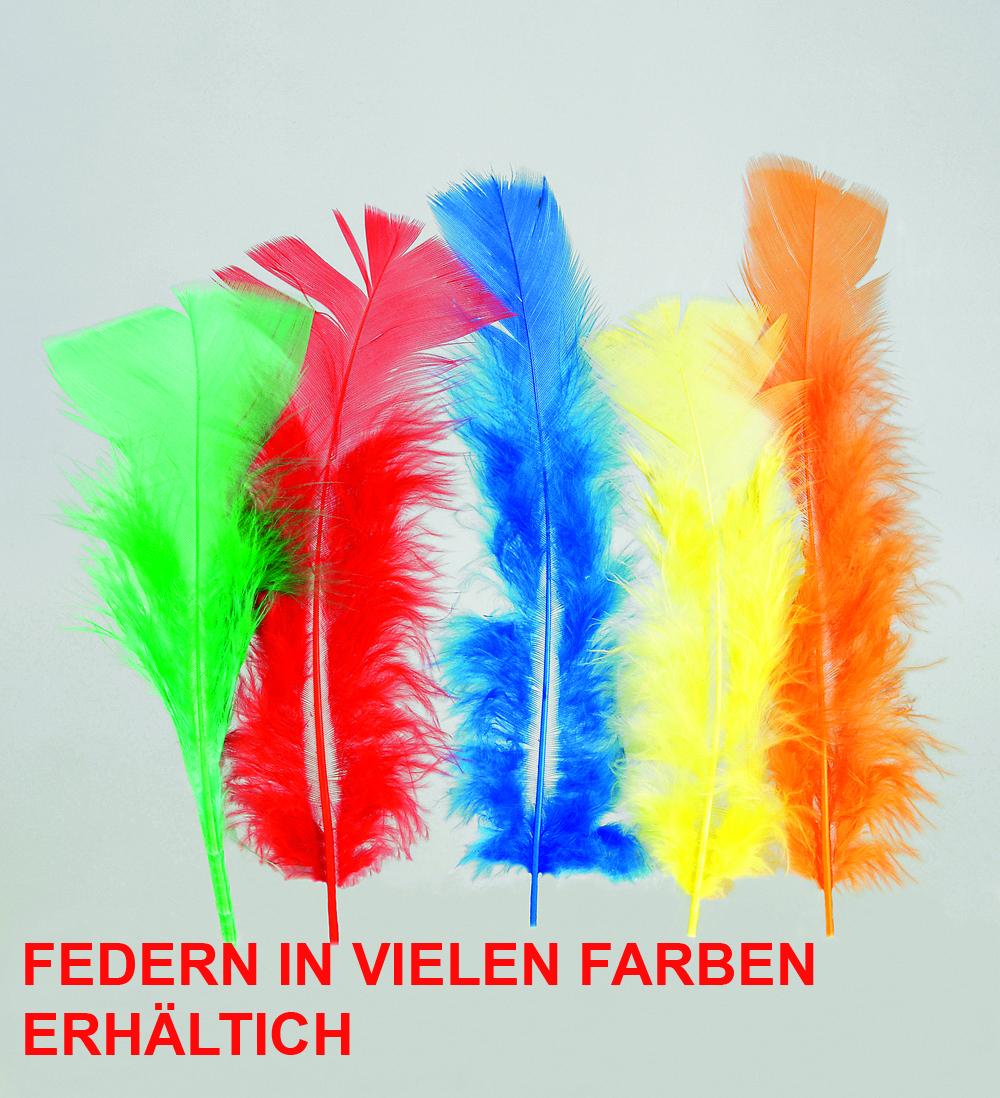 100 Stück Federn,  gefärbt ca.12 cm, Hühnerfedern, Basteln viele Farben
