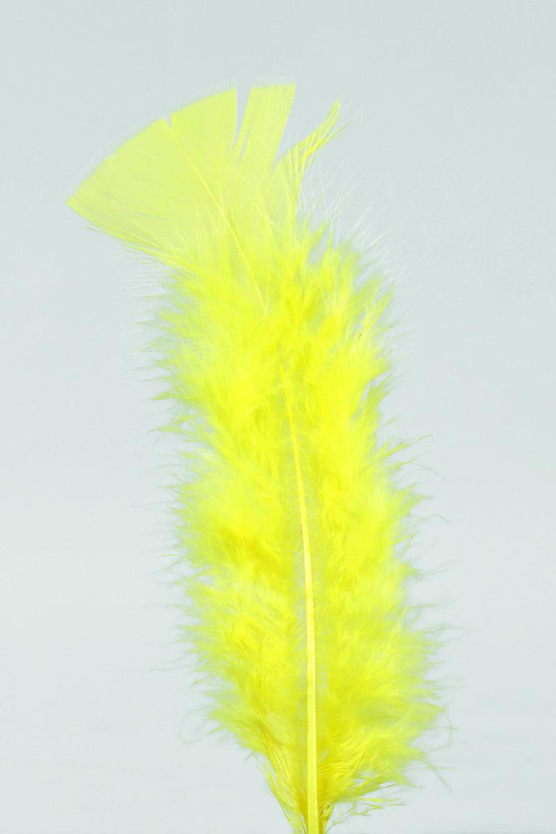 100 Stück Federn GELB gefärbt ca.12 cm,Hühnerfedern,Basteln für Kostüme