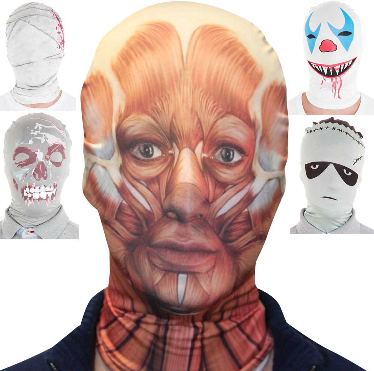 LIZENZ, MORPHSUITS MASKE, Zombie, Clown, Frankenstein Mumie,Muskel