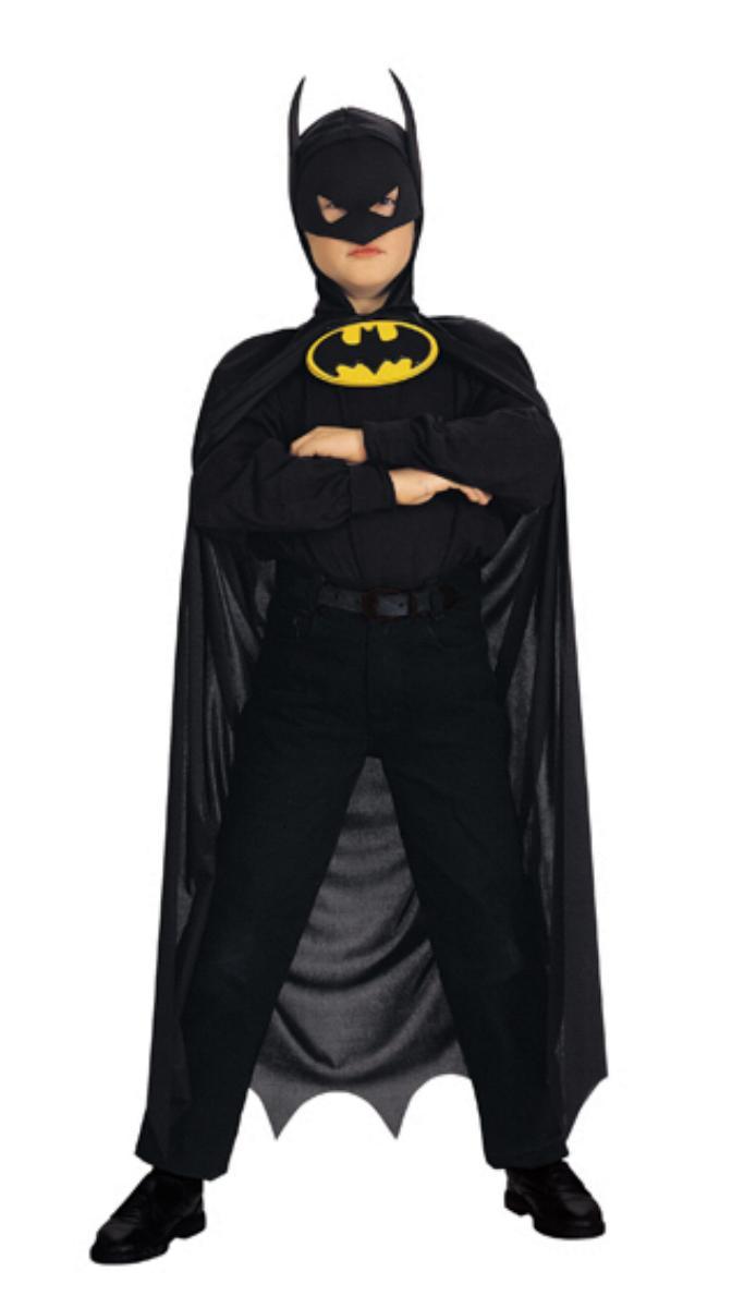 Batman Set, Umhang Kopfbedeckung u. Emblem Kinder ORIGINAL LIZENZ
