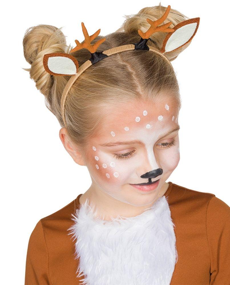 Set Reh Kostum Rehkitz Bambi Tull Rock Braun Haarreif Fasching