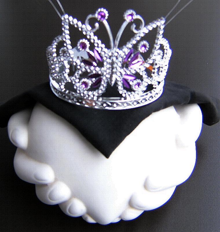 Diadem, Krone Schmetterling, silber lila, Kinder, Prinzessin 6170