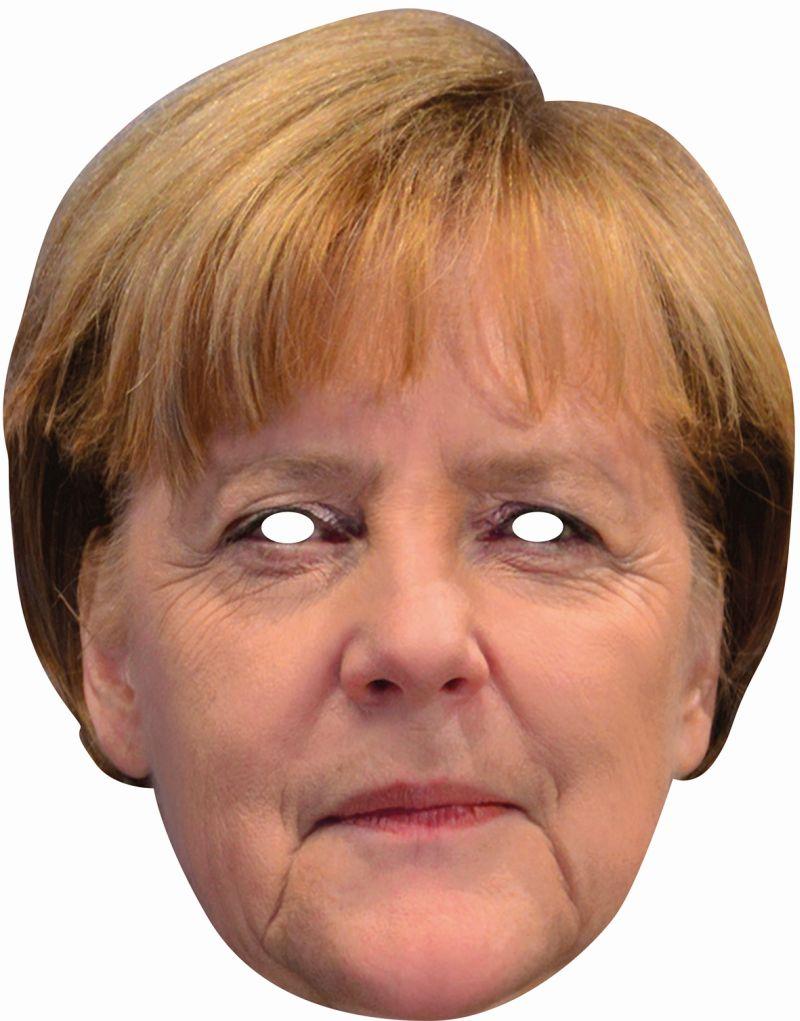 Angela Merkel 2D Gesichtsmaske Promi Politiker
