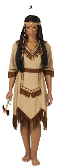 Indianerin Kostum Apachen Kleid Damen Hochwertig Gr 36 38 40 42 44