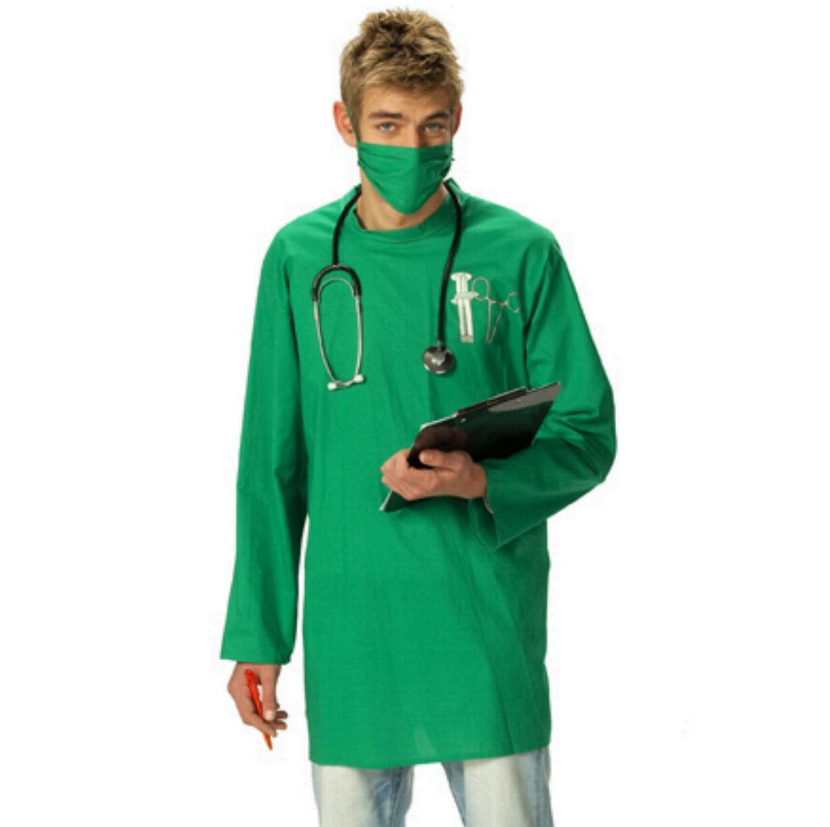 CHIRURG Kostüm, Arzt Doktor Kittel, Schürze,  50-52-54-56-58