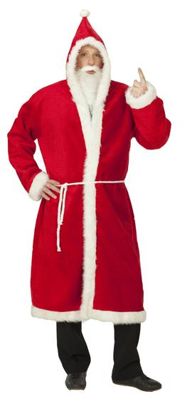 3 tlg. Nikolausmantel, Weihnachtsmann Mantel, PLÜSCH  Kostüm  226