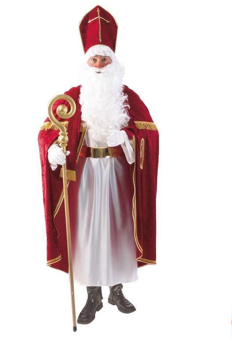 Bischof, St. Nikolaus,Weihnachtsmann Kostüm, Mitra Umhang edle Ausführung L-XL
