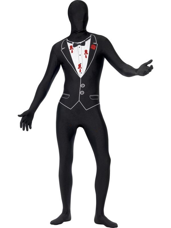 GANZKÖRPER Kostüm, GANSTER, Second Skin, schwarz, M, L, XL