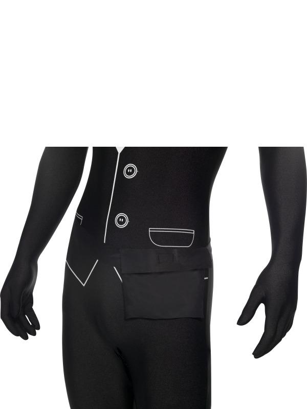 GANZKÖRPER Kostüm Anzug, SMOKING,  Second Skin schwarz, M, L, XL