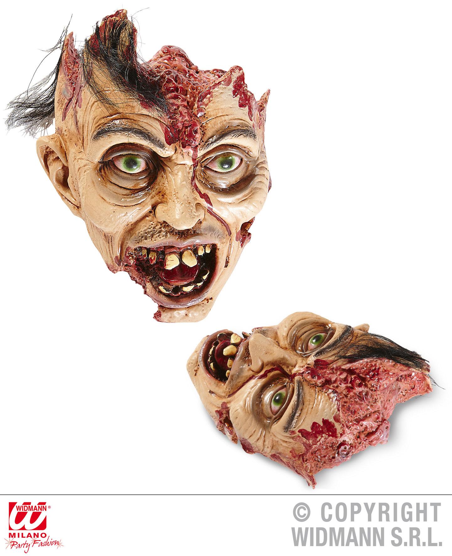 Blutiger abgetrennter Kopf ohne Gehirn Körperteile Deko Horror Halloween