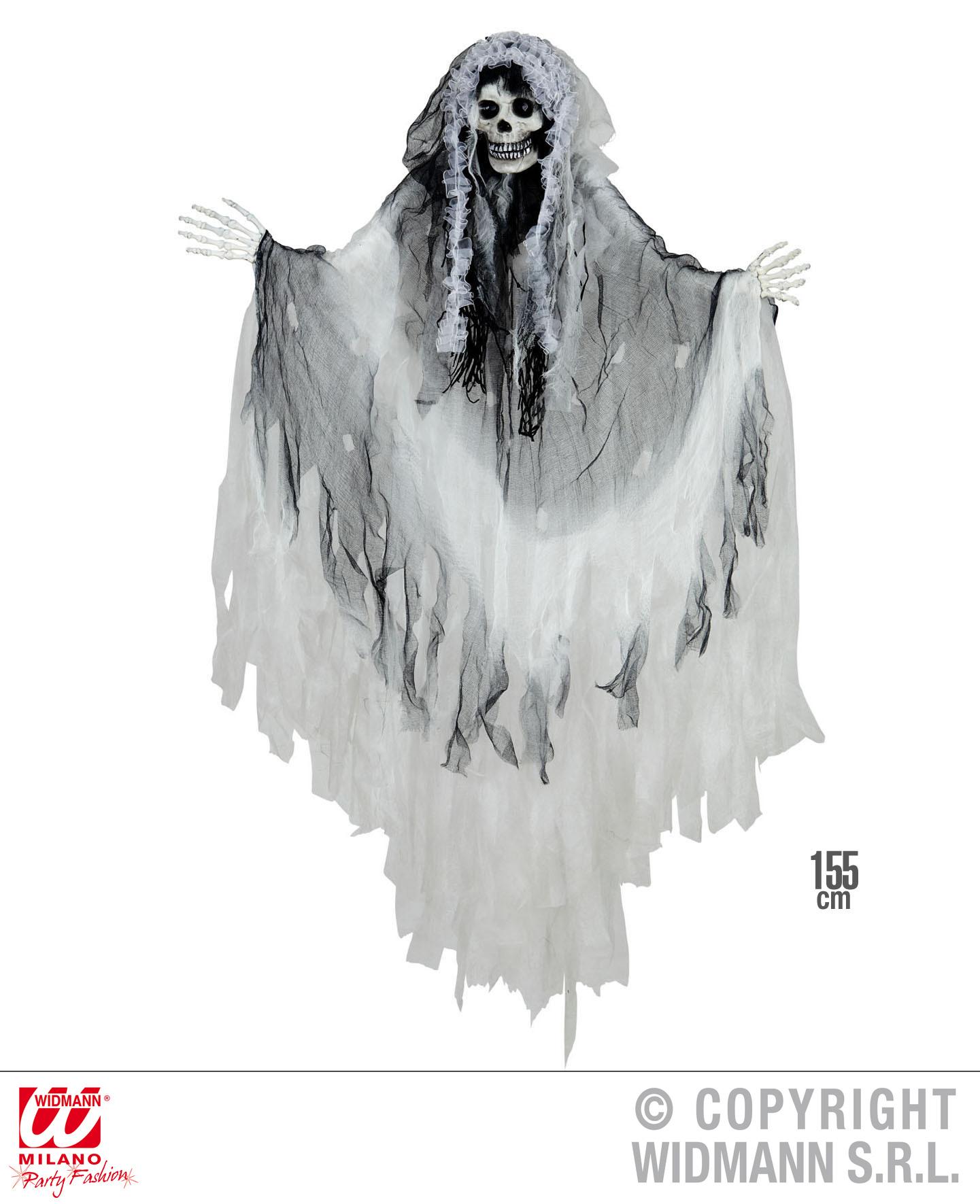 Deko Figur Tod, Skelett Braut zum Hängen 155 cm Halloween Horror 1374