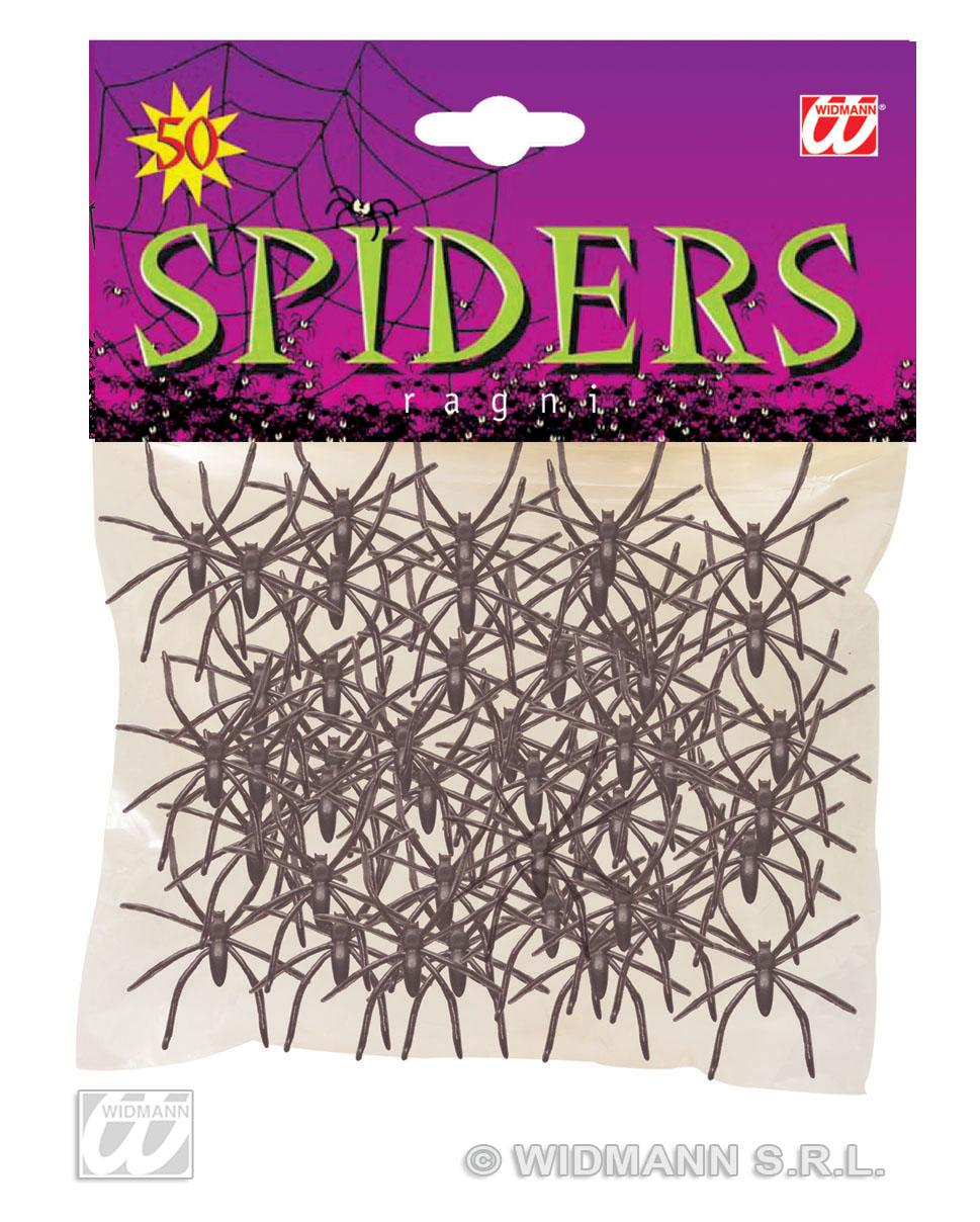 50 Stück,  Spinnen, Deko, Party, Tischdeko, Spinne 5382
