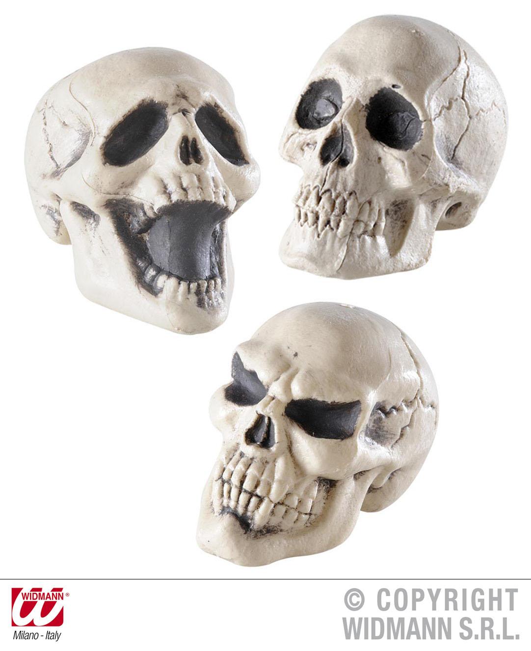 3 x Totenkopf Schädel, Deko Halloween, Tischdeko