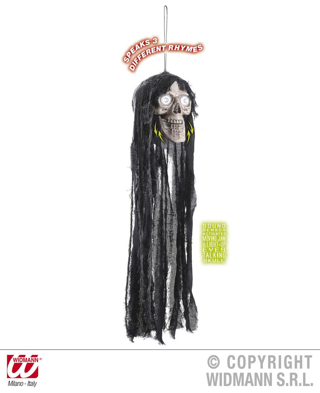 Figur, Totenkopf, 70 cm,Augen leuchten / spricht  Raumdeko,Deko,Dekoration