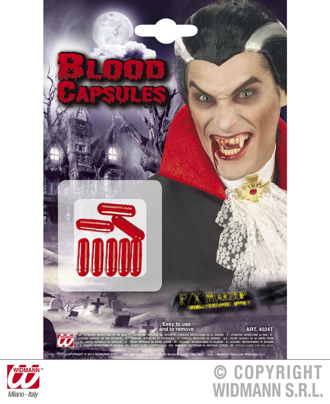 8 Blutkapseln Theaterblut  Horrorblut Blut Grusel Karneval