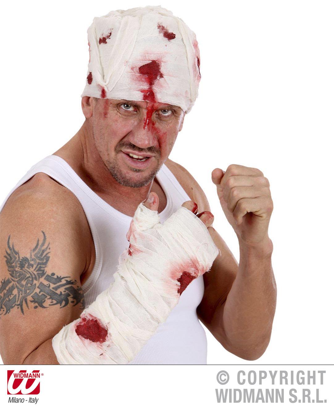 Blutender Kopfverband, Armverband, Halloween, Grusel Horror