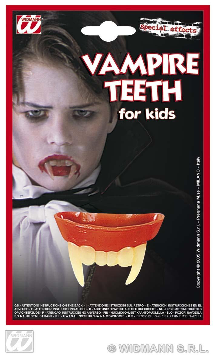 Vampirzähne, Draculagebiss,Zähne Kinder Latex ohne Kleber