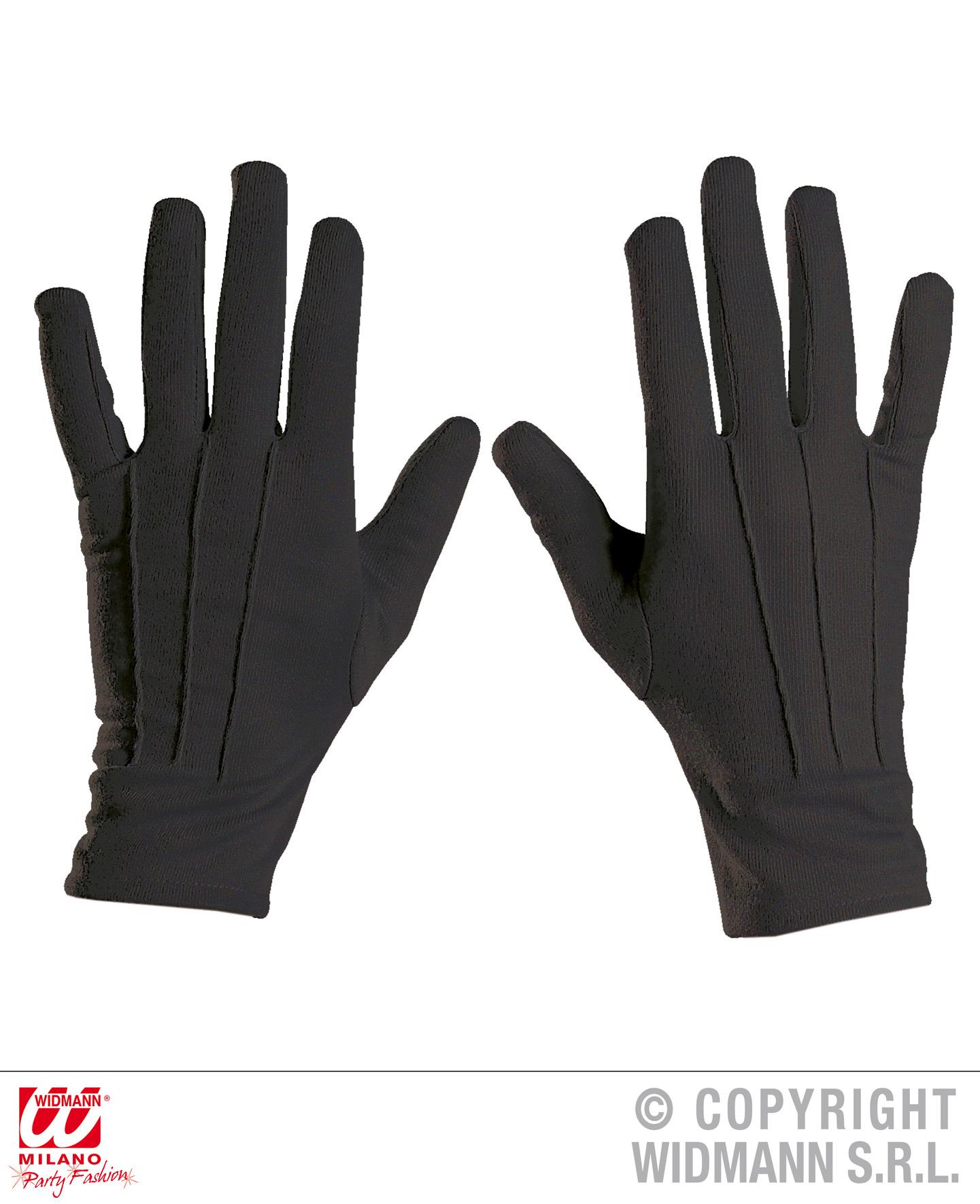 Finger Handschuhe kurz SCHWARZ, Erwachsene Vampir, Zauberer, Magier
