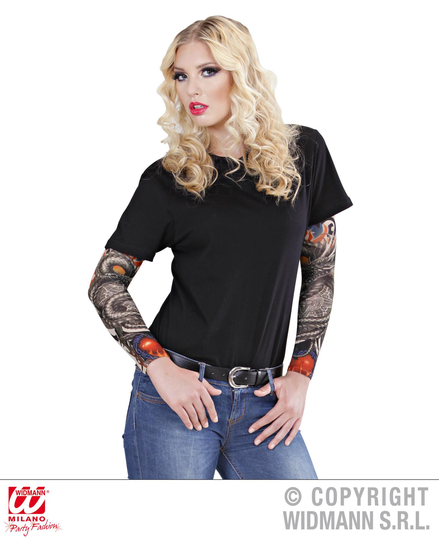 2x arm tattoo strumpf rmel schlange horro figur gag. Black Bedroom Furniture Sets. Home Design Ideas