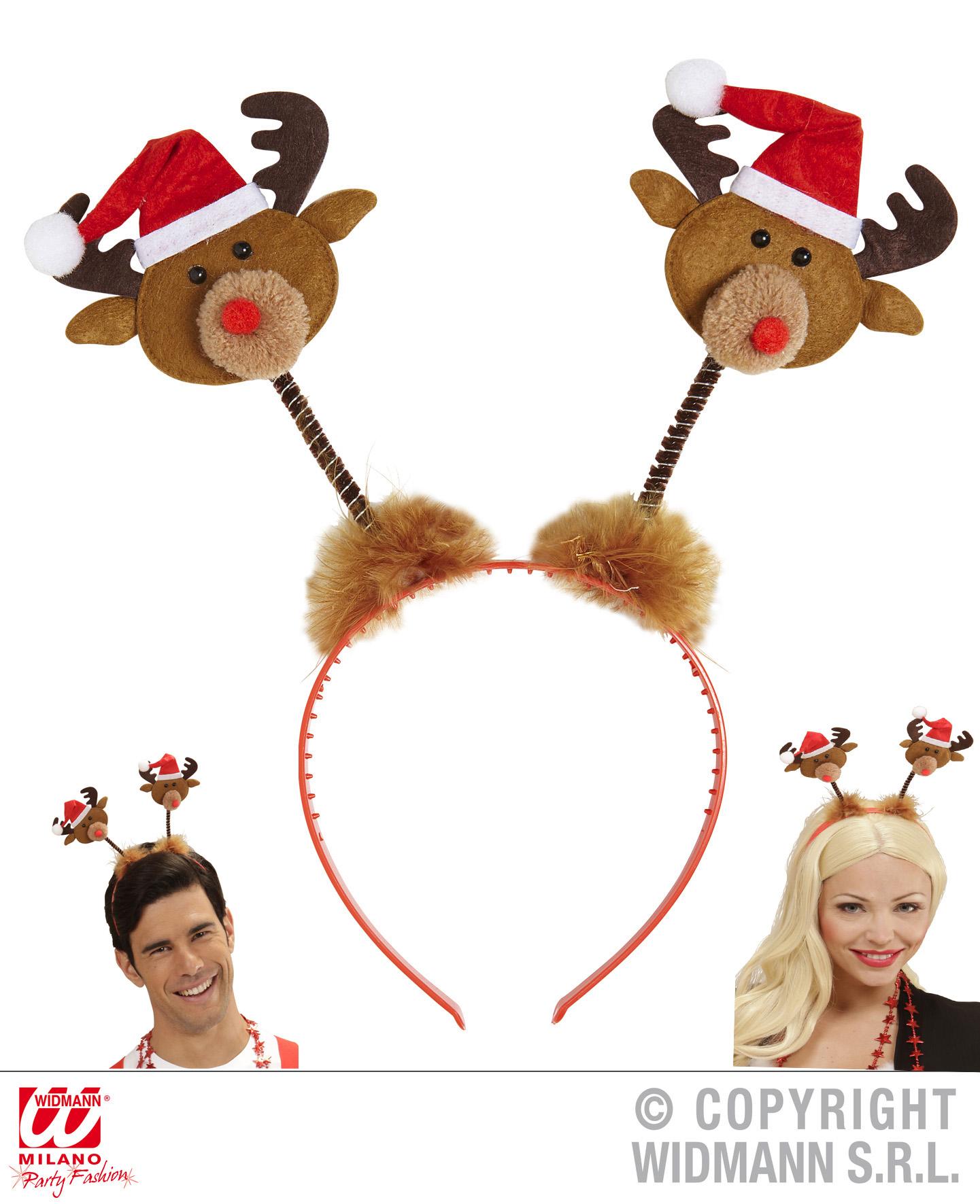 Haarreif Rentiere m Mütze, Weihnachten,Kopfschmuck  151