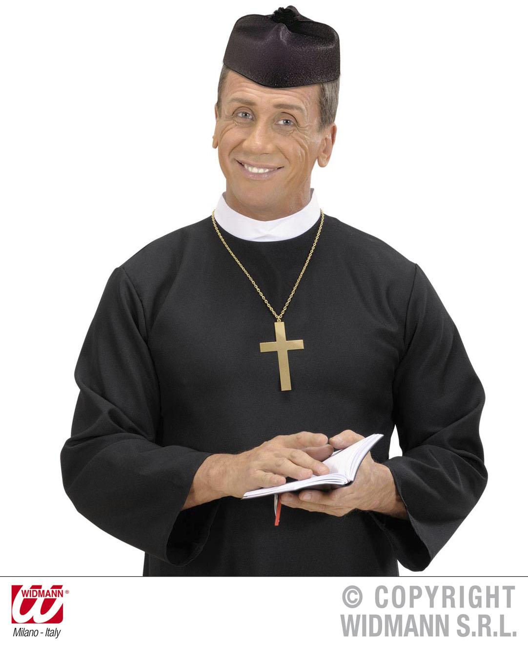 Priesterhut, Pfarrer, Don Hut  passend zum Gewand, mit Bommel